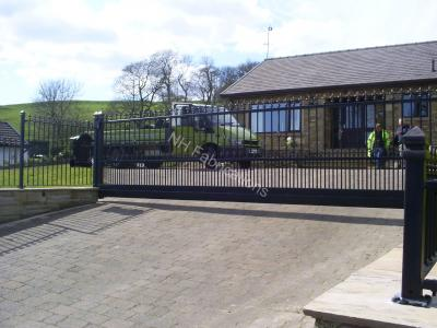 Ref: GT002 Wrought Iron Cantilever Style Automatic Sliding Gate in Ramsbottom