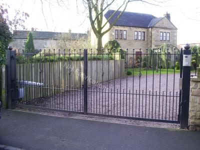 Ref: GT006 Electric Swing Wrought Iron Gate with Arm Automation Intercom and Magnetic Lock in Prestwich, Lancashire