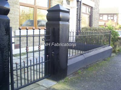 Ref: GT038  Wrought Iron Gates and Railings in Shaw, Oldham