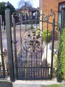 Ref: BP002 Wrought Iron Gates and Railings of any design can be provided by NH Fabrications