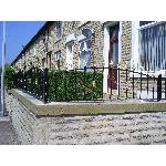Ref: RA003 Wall Mounted Metal Railings Bolton - Available Galvenised, Painted or Powder Coated